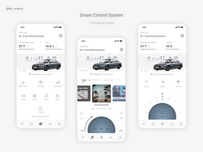 Audi - Smart System App daily ui uiux product design ui ux interaction design interaction car smart car smart app design app ux design ui design