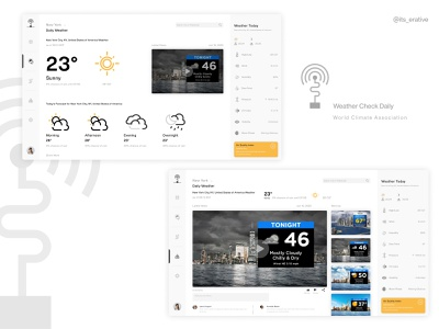 Weather Check Daily - A Conceptual Design typography interaction product design uidesign uxdesign design interaction design weather forecast weather app weather web design uiux ux ui ux design ui design