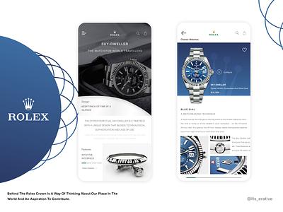 Rolex - Sky Dweller   Conceptual Design redesign concept rolex mobile app design typography interaction interaction design branding product design app design app ui  ux ux ui ux design ui design