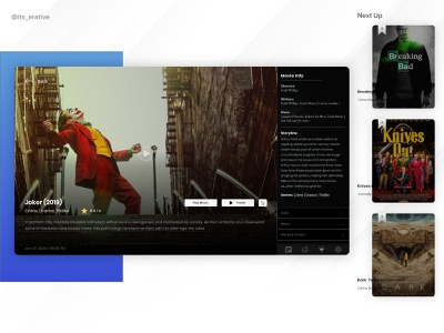 Smart TV - Movie Window web design daily ui uiux design interactive design interaction design product design ux ui ux design ui design