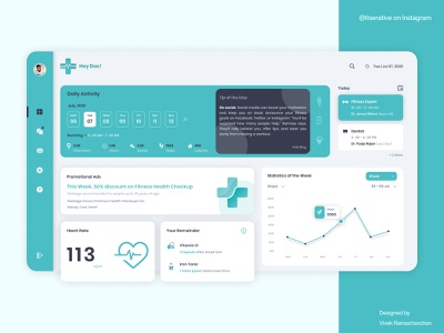 Hey Doc! - Official App hospital medical heartbeat app branding product design interaction design ux design ui design web design web app tracker app card list feeds cards fitness tracker activity tracker fitness app fitness medical app