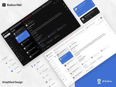 Erative Email Client App - Conceptual Design dashboard template webdesign erative uikit ux ui mail client email webapp app