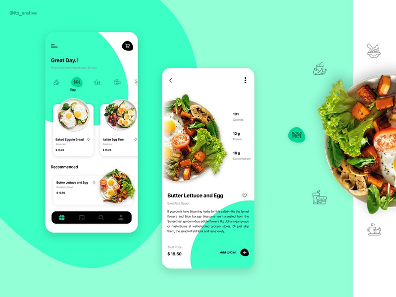 Food Ordering app layout design cards app product design food delivery ux design ui design app design ordering food app food ordering