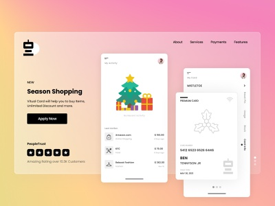 Season Shopping App mobile app glass glassmorphism dashboad branding app product design ux design ui design ux ui interaction design