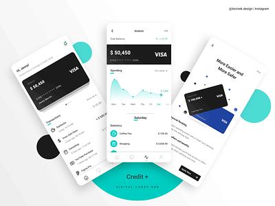 Credit+ App uiux mobile app branding app product design ux design ui design ux ui interaction design