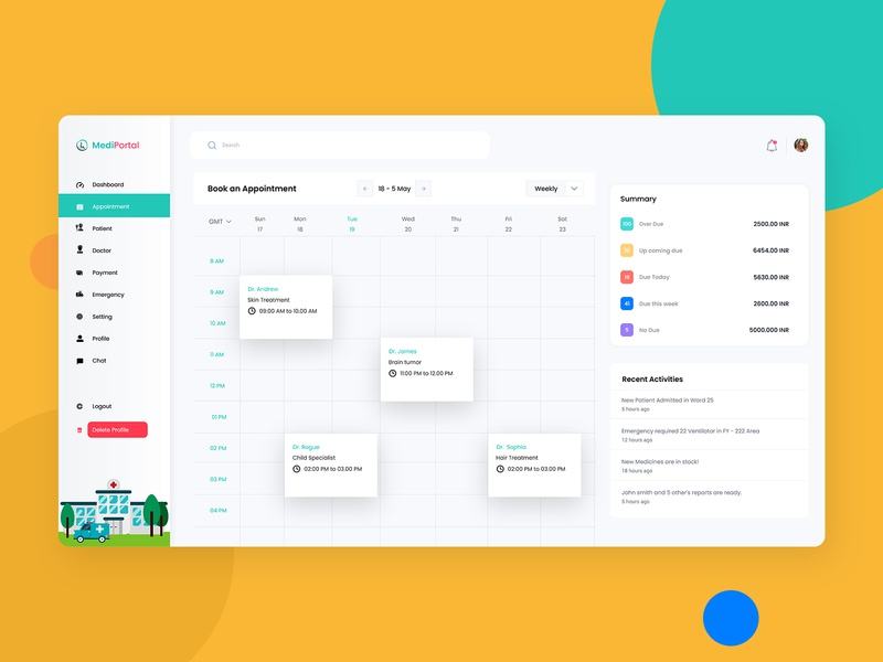 Doctor-Patient Appointment Dashboard minimal typography adobe xd illustration doctor patient doctor appointment dashboard template minimalist daily 100 challenge daily ui visualization visual design appointment booking appointment uiux dashboard ui dashboard