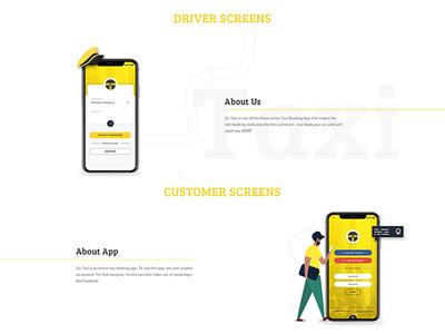 Taxi Booking App UI