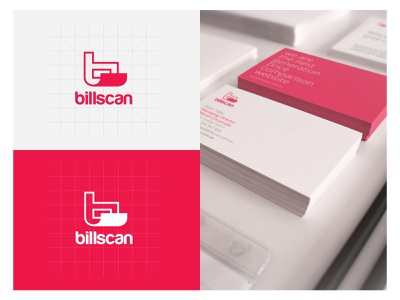 Billscan Visual Identity ui typography type mobile minimal logo lettering identity icon design clean character branding brand