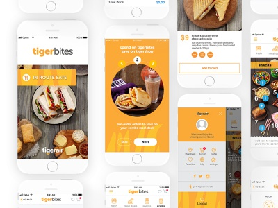 TigerAir App sketch ios lettering character app ux ui typography type mobile minimal logo identity icon design clean branding brand