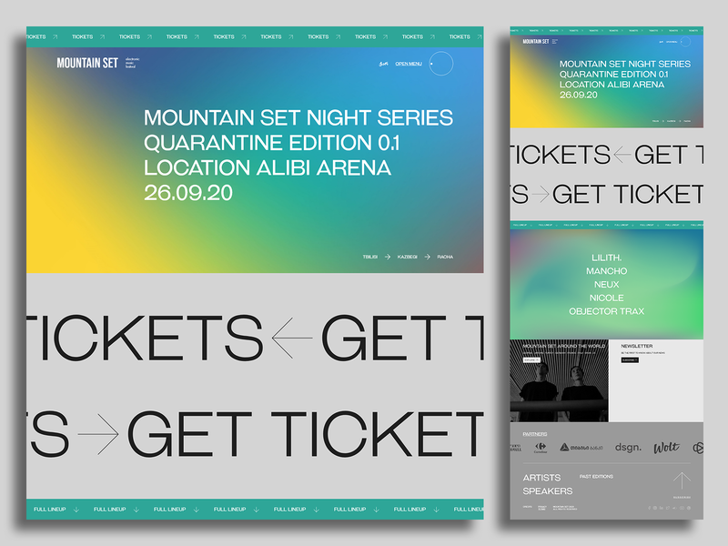 Mountain Set Night ticket newsletter sponsors wolt design online buy covid19 coronavirus corona quarantine objector trax lilith festival electronic music electronic set mountain tbilisi georgia