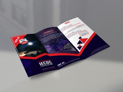 Tri Fold Brochure Design For IECOC Youth Camp
