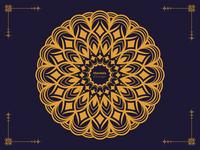 Luxury ornamental mandala background design  in gold color