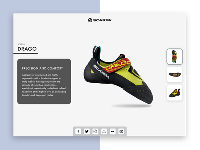DailyUI#010 Social Share Button shoes climbing product page minimalist social share button social share dailyui 010 ui dailyui