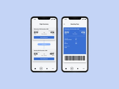 DailyUI#024 Boarding Pass mobile flight summary boarding pass dailyui 024 dailyuichallenge ux ui dailyui