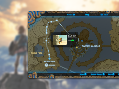 DailyUI#029 Map redesign breath of the wild dailyui 029 dailyuichallenge gui map game ux ui dailyui