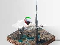 44 th Uae Nationalday Poster