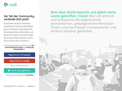 Login screen of an online community material design flat design social network masterthesis minimal community login