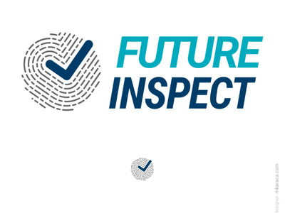 Logo: Future Inspect personal data fingerprint branding logotype gdpr vector approved design logo design logo