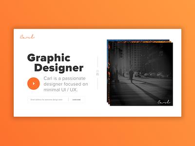 The Graphic Designer Carl | Practice practice ux ui graphic designer landing page design