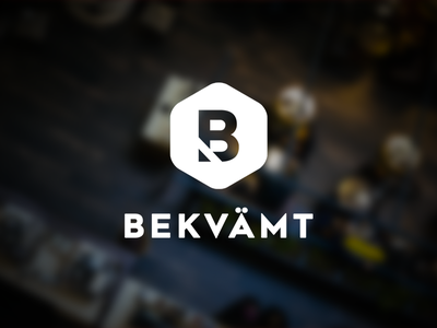 Bekvamt logotype simple clean design restaurant company website logo logotype