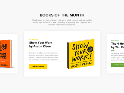 Book slider | Practice reading books practice ux ui slider