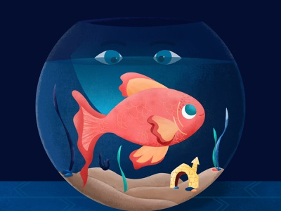 Inktober 01 - Fish vectober texture design vector 2d illustration eyes aquarium fish bowl fish inktober2020 inktober