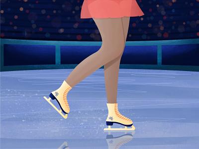 Inktober 03 - Blade vector art 2d illustration character girl ice ice skate ice skating rink ice skating gallery stadium roller skates skates roller skating figure skating inktober 2020 inktober blade