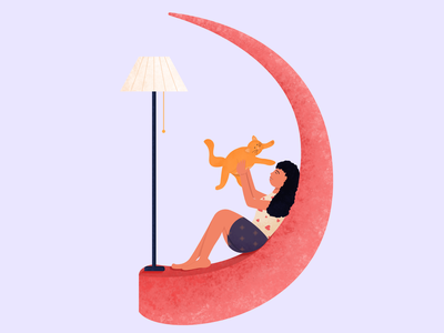 Letter D for 36 Days of Type typography type lettering simple letter d alphabet vector character cat girl illustration flat design 36daysoftype08 36daysoftype