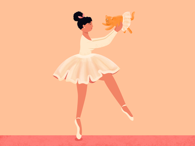 Letter K for 36 days of Type 36daysoftype 36daysoftype2021 lettering k letter k alphabet type vector digital illustration simple flat ballerina 36daysoftype08 cat character illustration