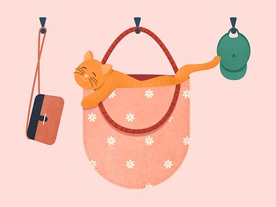Letter U digital illustration bag vector 36daysoftype cute dog pet cat illustration