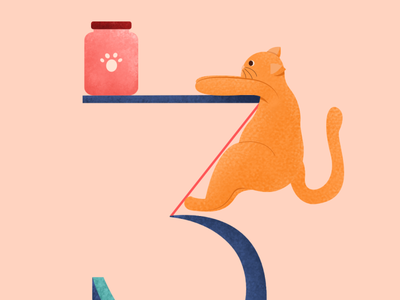 Try harder - 36 Days cat life treat number three meme 36daysoftype 36 days of type number type alphabet pet cat character vector illustration