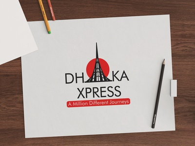 """Dhaka Express"" TV Channel Logo for Dhaka Bangladesh"