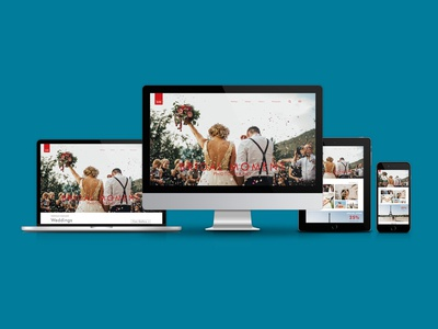 One Page Wedding Photography Website Design