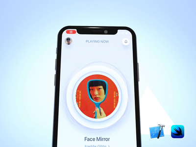 Full develop effect of music player | SwiftUI | Code drag clean simple interactive lottie iphone xcode swift code develop design ux aftereffects c4d 3d gradient micro interaction animation interaction ui
