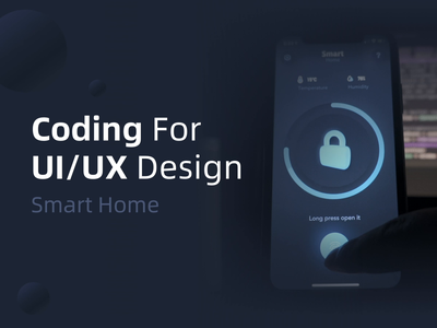 Coding For Smart home   SwiftUI   Code progress room neumorphic ios development coding xcode swiftui card smart home lock motion sketch 3d gradient micro interaction animation interaction ui