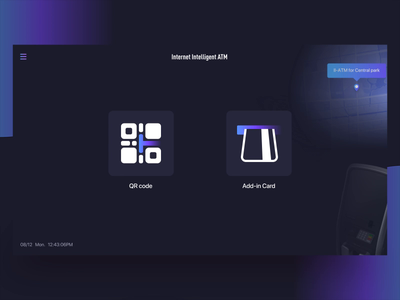 ATM  Internet Intelligent APP to ATM face recognition icons face recognition face qr typography illustration deposit bank transfer bank card bank atm micro interaction dribbble account ui motion interaction gradient animation