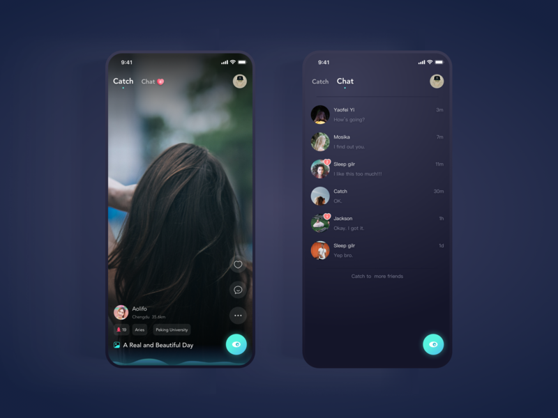 Photo Video Streaming Chat Page social date chat icon tiktok wave sounds black gradient dribbble micro interaction interaction ui