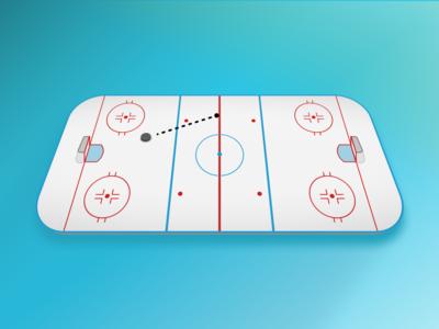 Hockey Rink live illustration figma app sports hockey