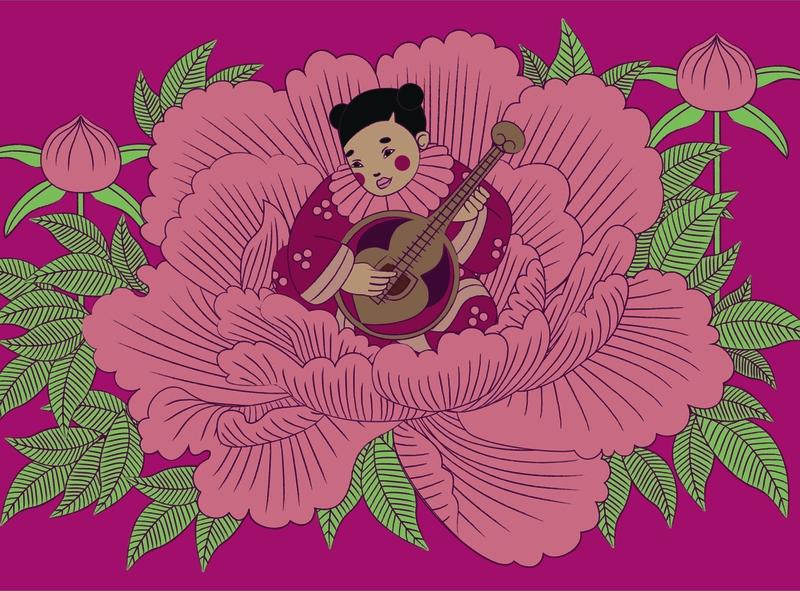 Chinese graphic design illustration
