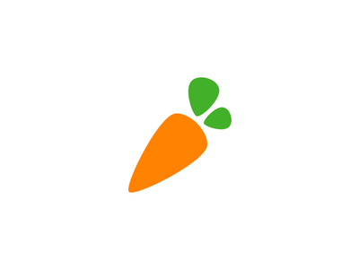 Instacart Logo groceries rebrand round simple produce carrot fresh logo instacart