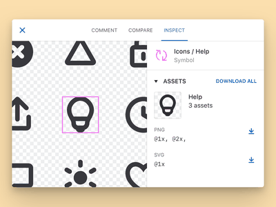 Abstract Assets abstract tools handoff export symbols filetypes icons assets