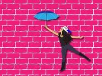 Illustration Girl With Umbrella