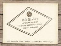 Robert Sinskey Vineyards Biz Cards