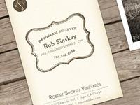 Robert Sinskey Vineyards Biz Cards R2
