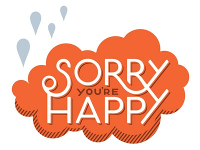 Sorry You're Happy logo design logo identity art licensing surface design typography sorry youre happy