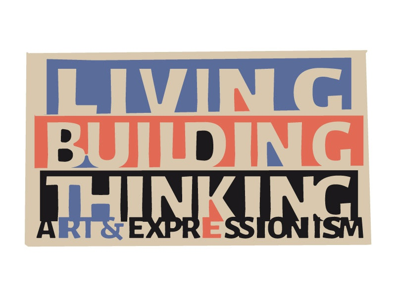Living Building Thinking Logo 1 canada hamilton gallery museum expressionism german art brand logo