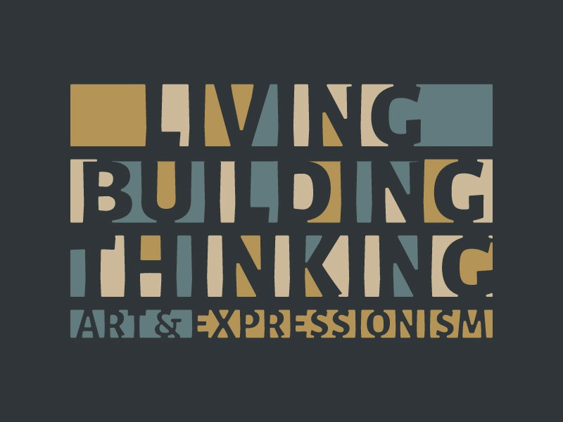 Living Building Thinking Logo canada hamilton gallery museum expressionism german art brand logo