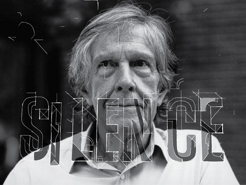 Silence (John Cage) john cage poly studio silence hand lettering lettering design illustration
