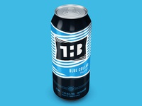 The Hamilton Brewery Blue Collar Pale Ale can design