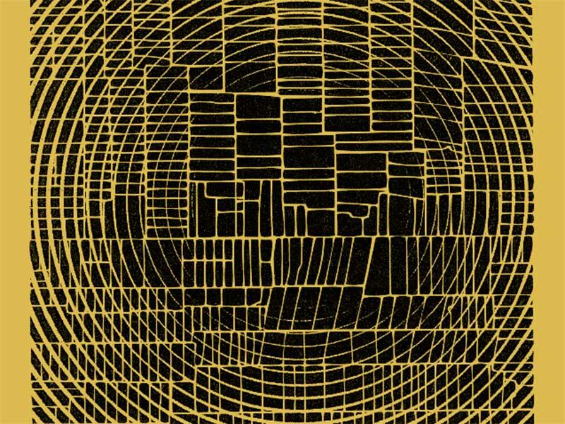 black & gold grid 1 abstract gold black grid graphic art illsutration design